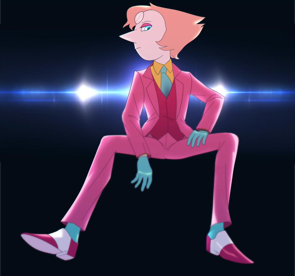 pink three piece suit