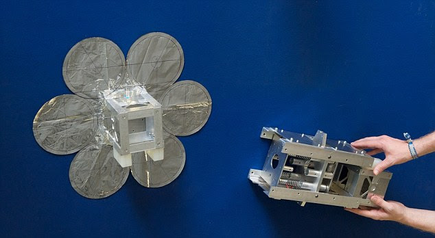 The researchers already deployed a network of satellites which could be used to 'beam' power back to Earth
