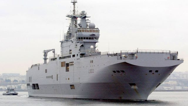 Russia had signed a deal for two Mistral ships from France in 2011. AFP