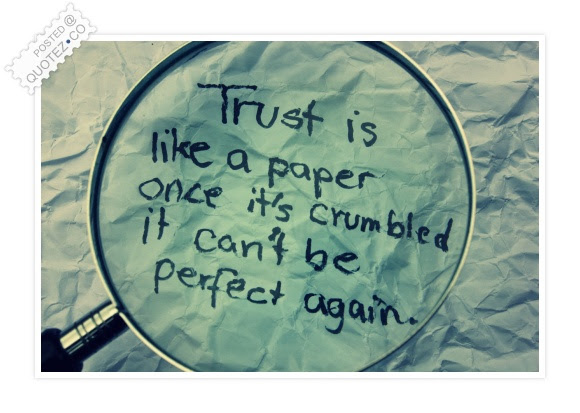 Trust Is Like A Pape Friendship Quote Quotezco