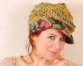 Newsboy hat Green hat woman Summer hat woman Green crochet hat Crochet newsboy hat Boho hat Knit hat woman Crochet hat woman SALE