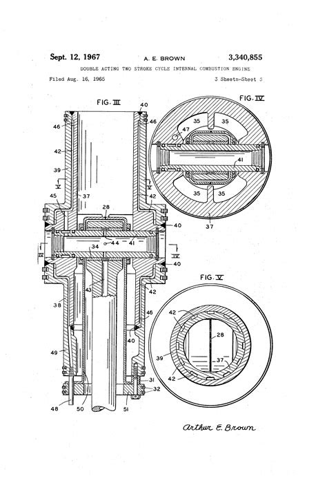 Patent US3340855 - Double acting two stroke cycle internal