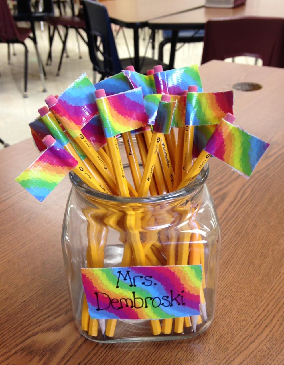 Pencil Flags (c) Kristen Dembroski