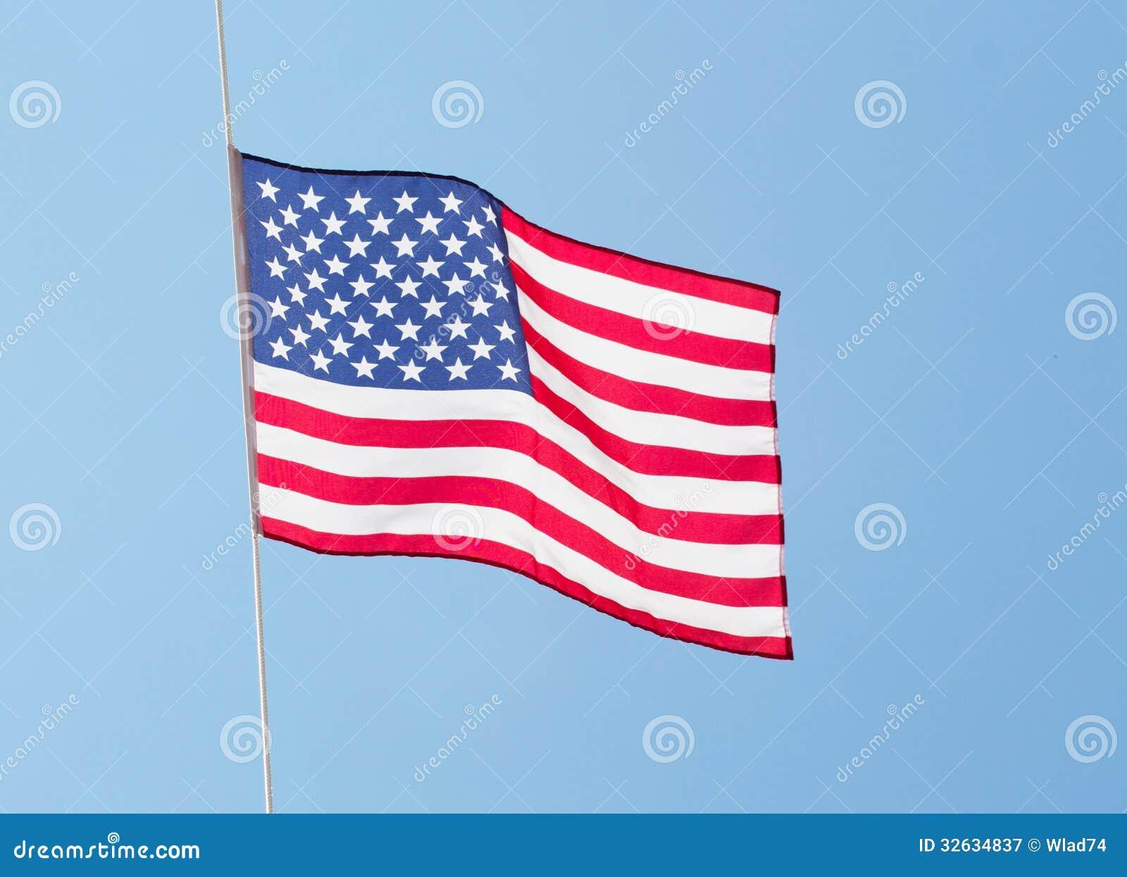 American Flag & Sky