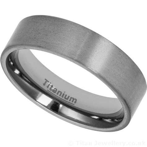 mm titanium wedding band   satin brushed finish