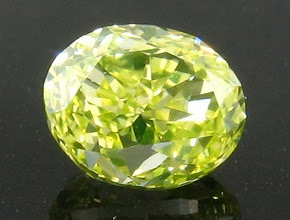fancy intense green yellow oval diamond