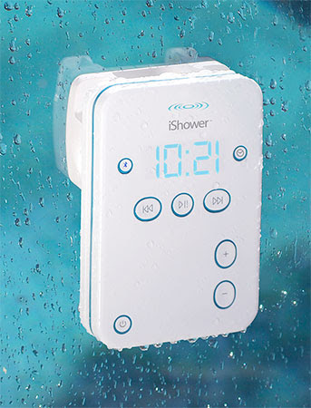 iShower is ready to get wet waterresistant Bluetooth speaker is now shipping