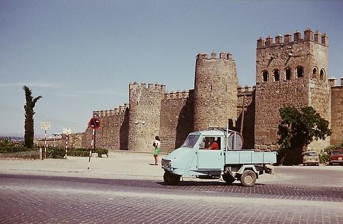 Torres de la Reina, Toledo, en 1973. Foto de Alwin Nöller