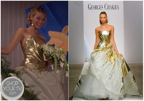 Gossip Girl: Season 6 Episode 10 Serena?s Gold Wedding Dress