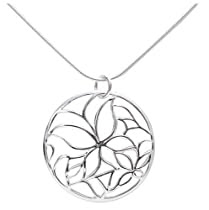 Sterling Silver Butterfly Design Pendant, 18 inch