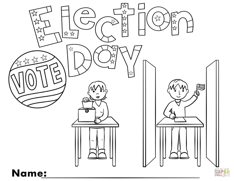 Рисунок все на выборы раскраска, надписями про смысл