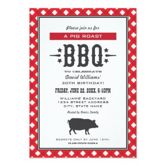 "Birthday Party Invitations | Backyard BBQ Theme 5"" X 7"" Invitation Card"