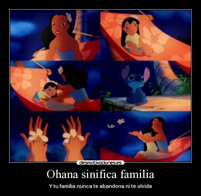 Ohana Sinifica Familia Desmotivaciones