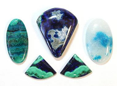 Arizona azurite, malachite and chrysocolla