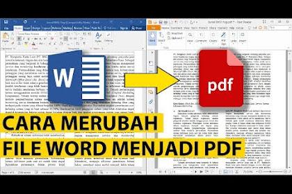 Cara Merubah (Konvert) File Word Menjadi PDF Online dan Offline