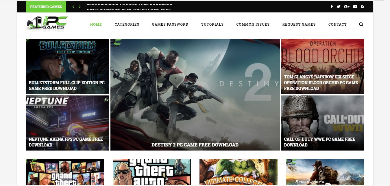 top sites to download free pc games