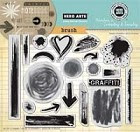Hero Arts - Cling Rubber Stamp - Brush Strokes