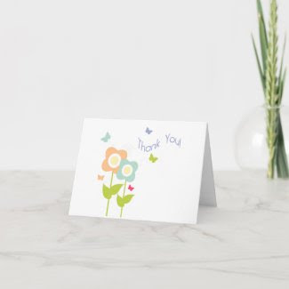 Butterfly Thank You Note Card zazzle_card