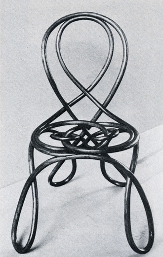 August Thonet of Gebruder Thonet bent wood chair, 1870