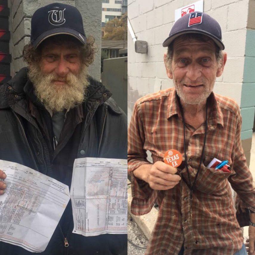 Resultado de imagem para Morador de rua retorna à faculdade 40 anos após abandonar curso