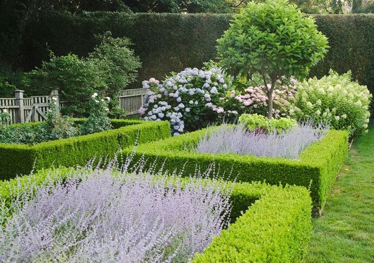 Ina Garten's garden from Modern Country Garden Combos: Lavender And Topiary