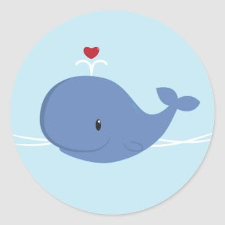 Whale love sticker