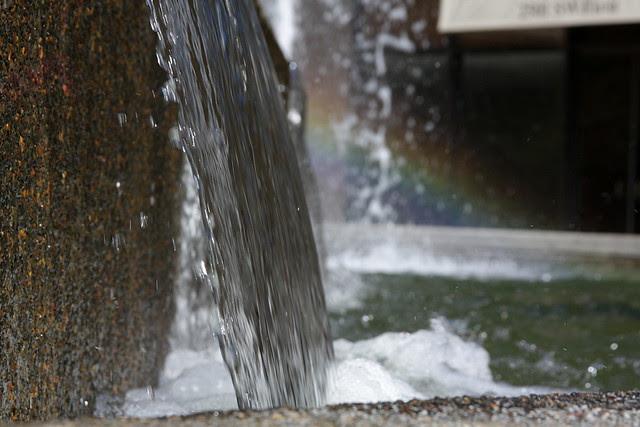 fountain + rainbow
