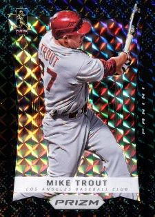 2012 Panini Finite Black Prizm Mike Trout