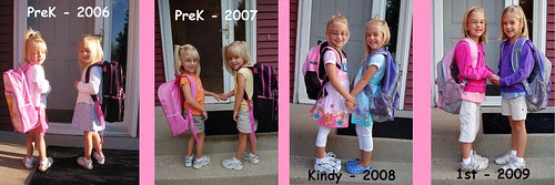 1st day of school through the years...