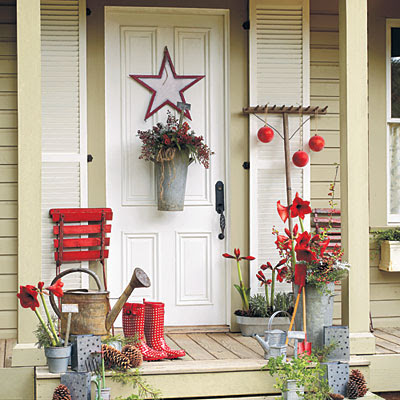 Front Porch Decorating Ideas for Christmas | One Hundred Dollars a ...