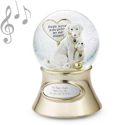 Make A Wish Paw Prints Snow Globe Shopswell