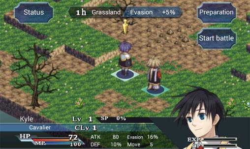 Screenshots of the SRPG Legend of Ixtona for Android tablet, phone.