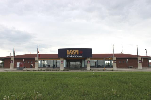 VIA station in Edmonton Alberta