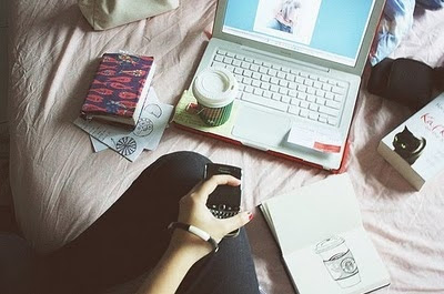 blackberry, celular, coffee, computer, girl