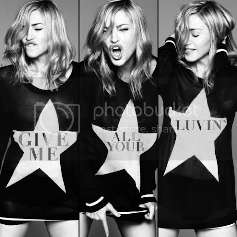 copertina ufficiale di give me all your luvin' di madonna e press release di m.d.n.a