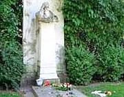 La tomba di Brahms  allo Zentralfriedhof di Vienna