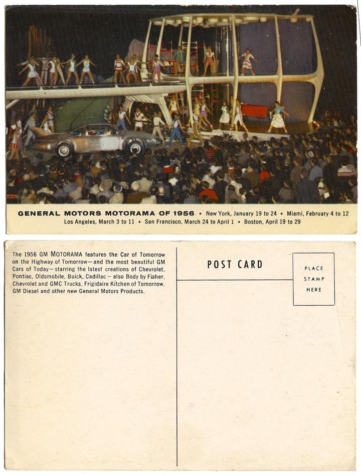 General Motors Mortorama of 1956_postcard_tatteredandlost