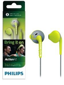 Philips SHQ1200TLF ActionFit MP3 Headphones (Green/Grey)