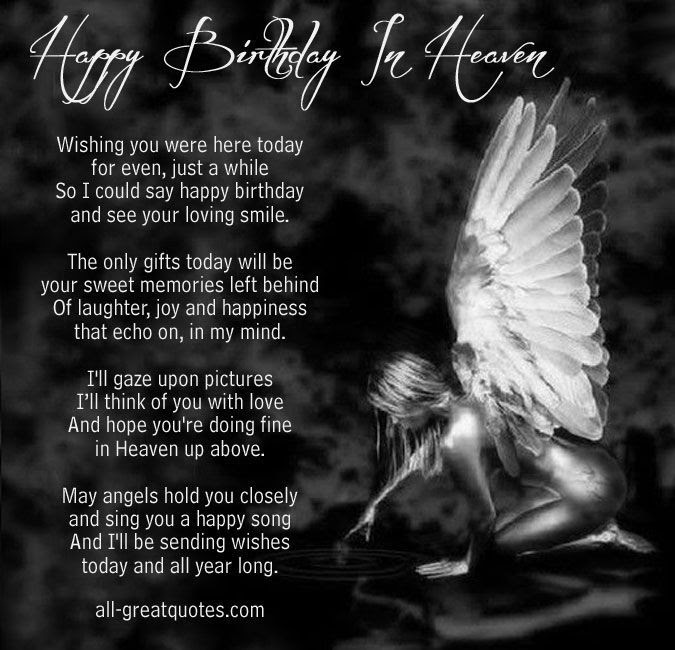 Happy Birthday In Heaven Poem Pictures Photos And Images For