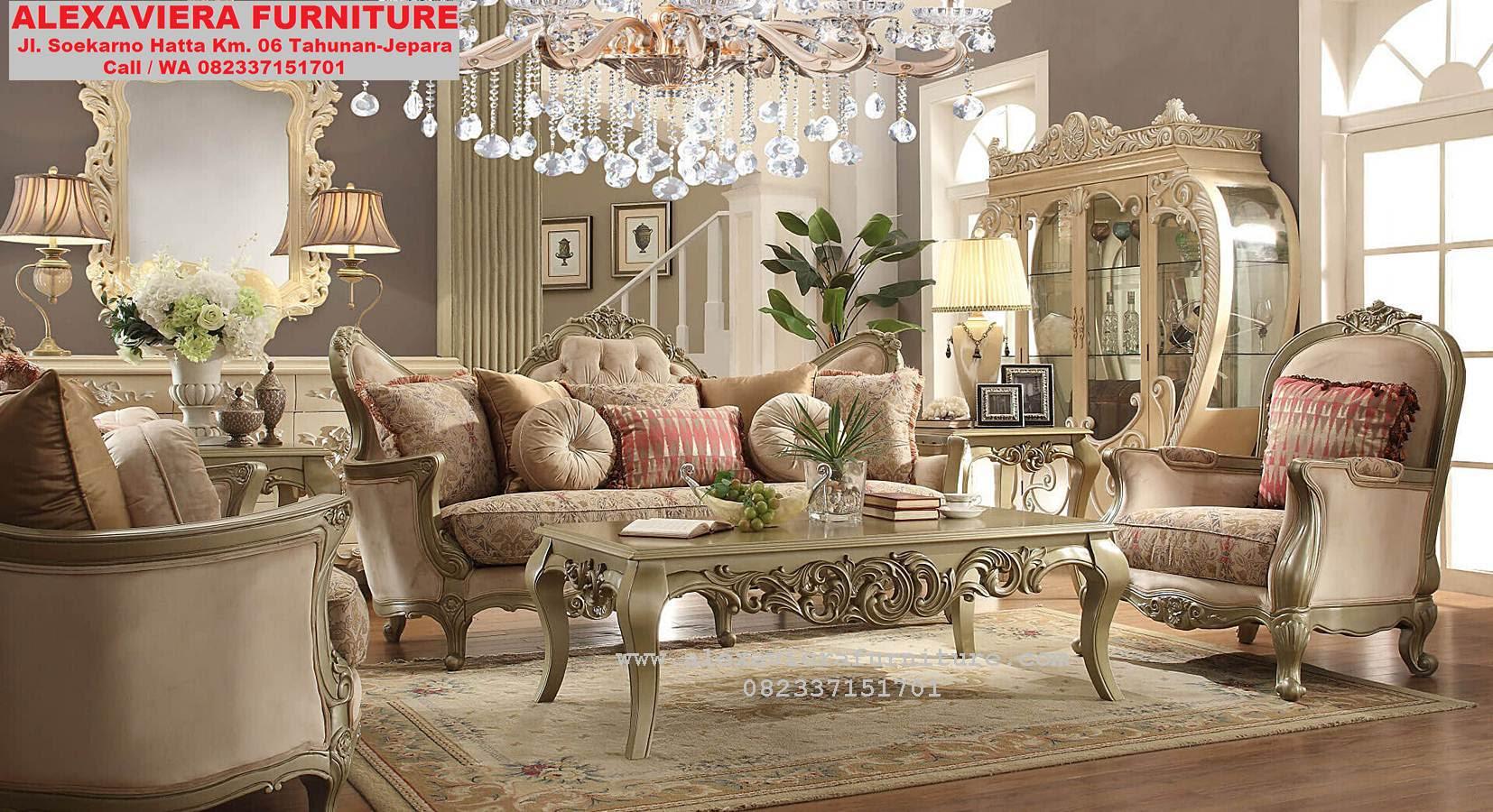 Model Sofa Ruang Keluarga Mewah Klasik KT 052 Sofa Ruang Tv Sofa