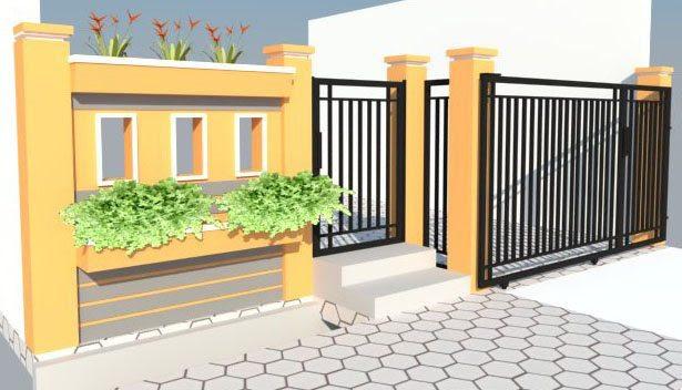 pagar rumah  minimalis modern Contoh Gambar Rumah