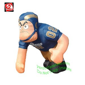 Gemmy Airblown Inflatable St. Louis Rams Running Back