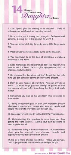 This is what I want my daughters to know. A message for