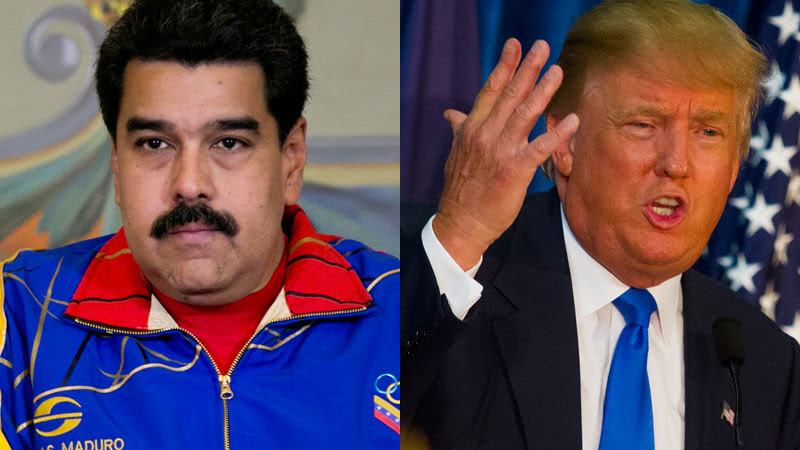 Maduro on Left; Trump on Right
