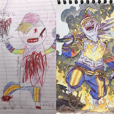 dad turns sons drawings  amazing illustrations