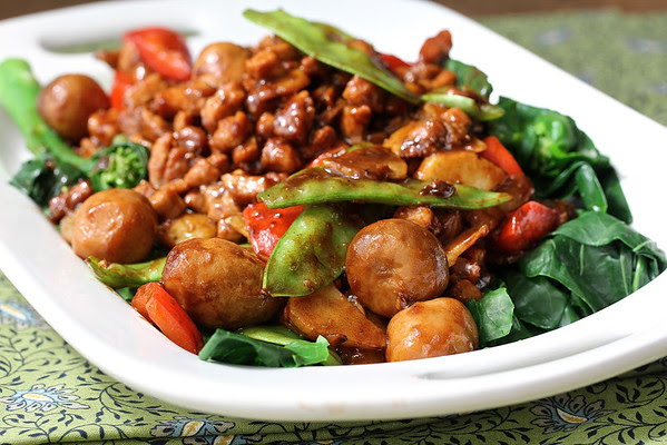Cantonese Style Stir-Fried Pork with Chinese Broccoli