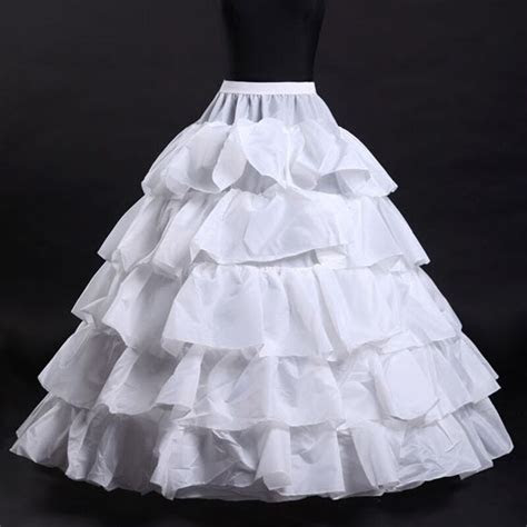 Bridal New Petticoat Wedding 4 Hoop Ruffle Crinoline