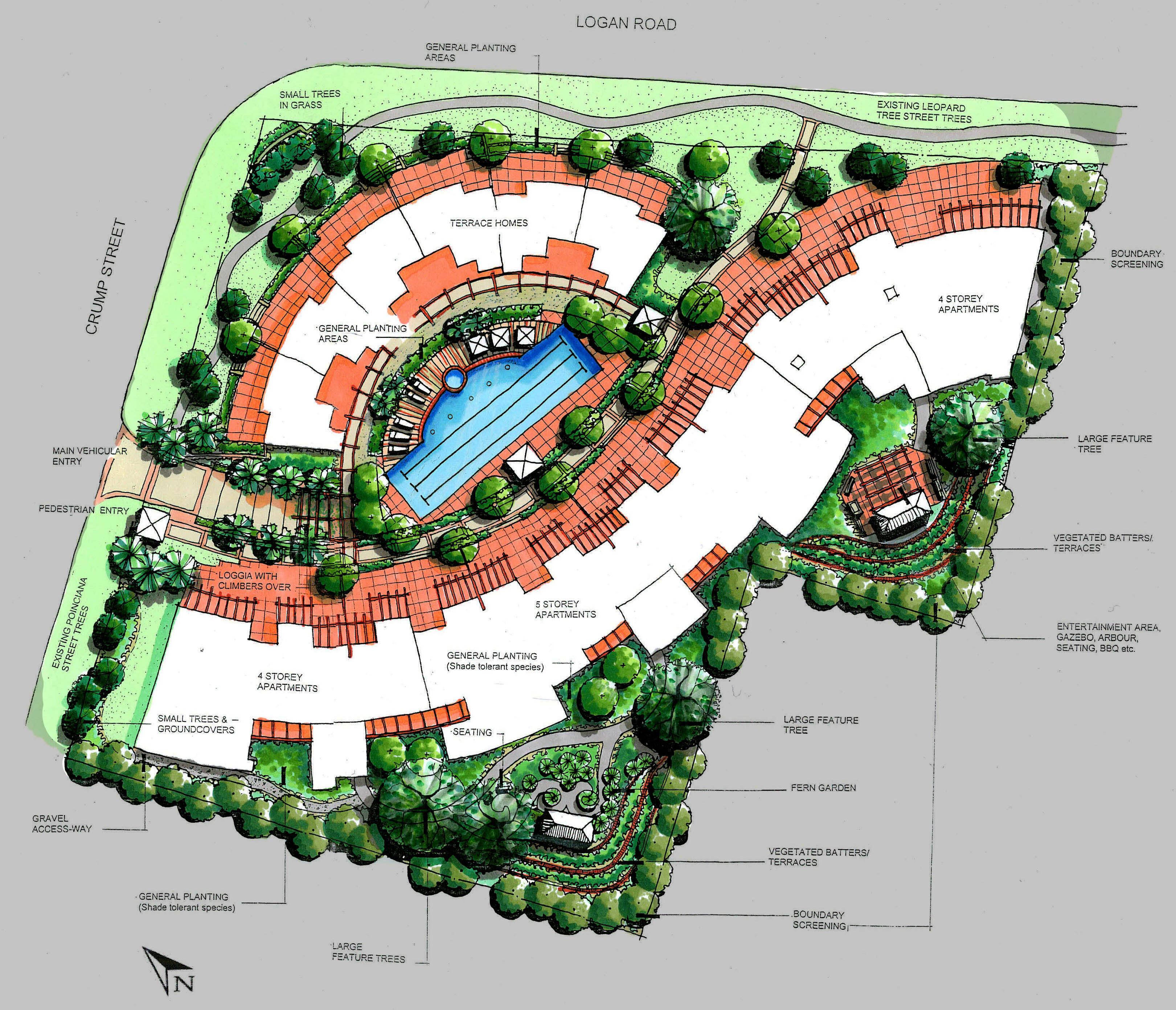 Landscape Architecture Design Concept ~ Landscaping Design Idea