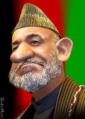 Hamid Karzai - Caricature