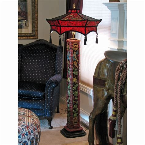 Hand Made Custom Oriential Floor Lamp Lampshade by Suzanne